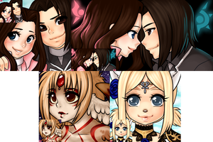 Furcadia Portraits || Settiesama batch by LittleMacarons