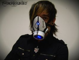 The Aperture Science''portal gun'' gas mask by TwoHornsUnited