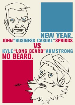 New Year No Beard poster. by kylermstrong