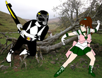 Zack Taylor vs Sailor Jupiter  by RedPegasus237