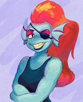 Undyne the Adorable by Ink-Dash