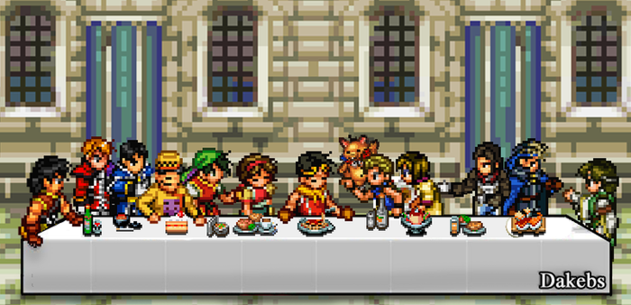 Suikoden 2 : The Last Supper by Dakebs