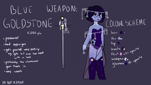 New Gemsona Blue Goldstone by WingsoFreedom5324