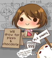 Will draw for pizza and chocolate by mmidori31