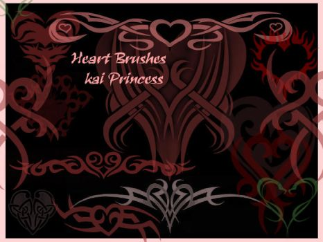 Heart Brushes by KaiPrincess