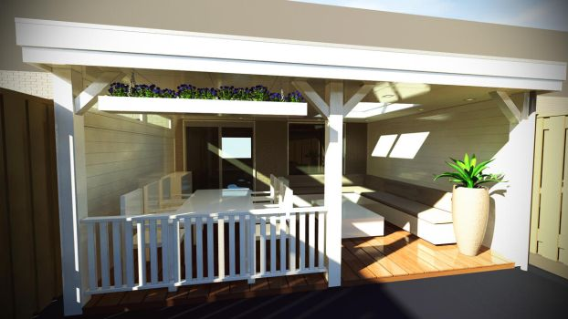 3Ds Max Porch design by colinbarnes