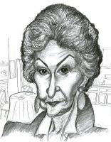Bea Arthur in The Golden Girls by Caricature80