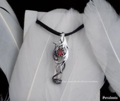 Contest prize, handmade sterling silver pendant by seralune