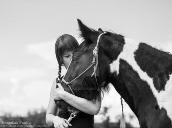 Friendship between horse and owner by Qualisco