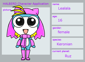 HALBERED Character Application-Lealala by Noulin123