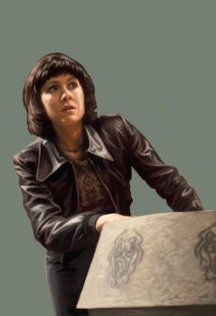 Doctor Who Card Game - Sarah Jane by ScottPurdy
