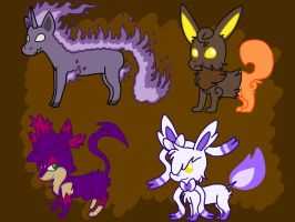 Spooky Pokemon Fusion Adopts (CLOSED) by RexVortexHusky