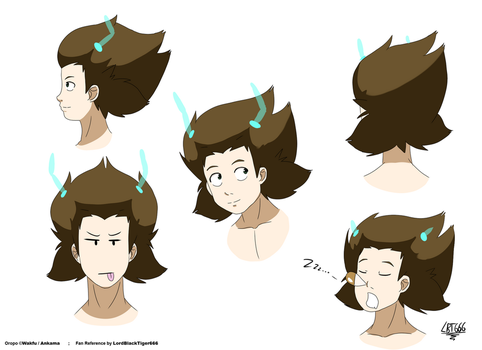Wakfu | Fan reference - Oropo's hair by LordBlackTiger666