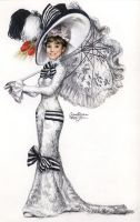 Audrey Hepburn 141 colored pen by Ethan-Carl