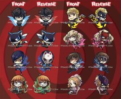 Persona 5 Charms! by ffSade