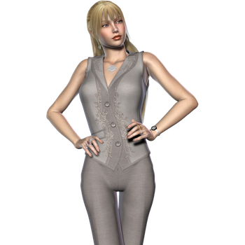 Woman in Taupe Office Suit 3 by RedHeadFalcon