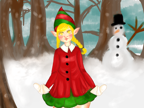 Merry christmas /1st drawing on tablet lol by Lilolilu