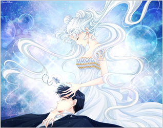 Princess Serenity and Tuxedo Mask by VermeilleRose