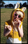 A Yummy Treat for a Shiba Inu! (Cosplay) by KrazyKari