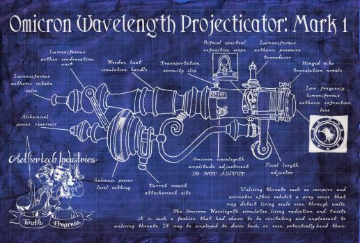Omicron Wavelength Projecticator Schematic by AethertechIndustries