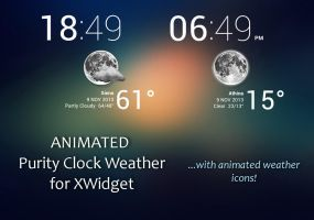 ANIMATED Purity Clock Weather for xwidget by Jimking