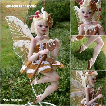 Gingerbread Myxie ornament sculpture by MysticReflections