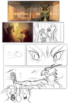 Comic Page WIP by Yuroboros