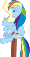 Rainbow Dash meets railway sign by TimeImpact