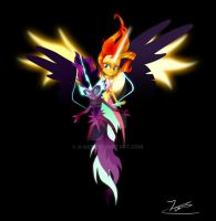 Sunset Shimmer and Twilight Sparkle by II-Art