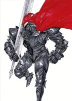 Knight With a Red Cape by Mikezzzzz