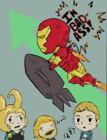 Badass Iron-MAn (colored) by Happy-Bomber