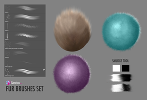 FUR Brushes Set by Sanctus Art by thesanctus