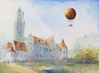 The Palace in Silesian Naklo by sanderus