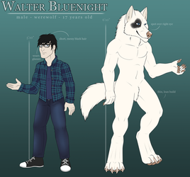 COMMISSION: Walter Bluenight Reference by Rott-i-kins