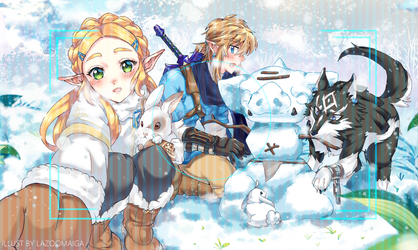Snowy times by LaZoomaiga