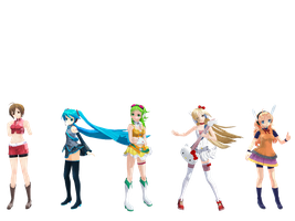 MMD - Pose Pack 1 by porimeria