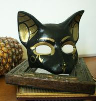 Egyptian Cat Goddess Mask by nondecaf
