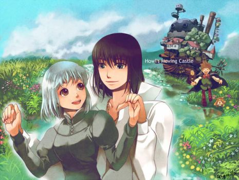 Howl's Moving Castle by angorilla