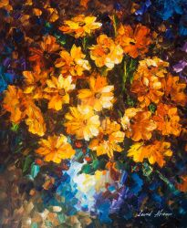Nice Bouquet by Leonid Afremov by Leonidafremov