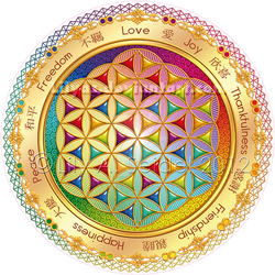 Flower of Life Window Sticker - light - by Lilyas
