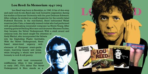 Lou Reed CD Pop-Art #2 by KRPgraphics