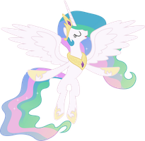 Princess Celestia Flying by 90Sigma