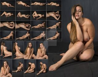 Stock: Lillias Nude Floor Poses - 25 Images by stockphotosource