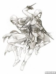 Ezio and Altair by akreon
