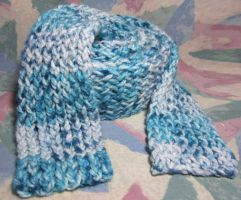 Speckled Blue Egg Scarf by SmilingMoonCreations