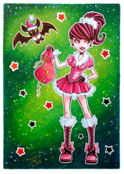 Christmas Draculaura by clefchan