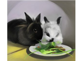 Bunnies by Lalochnica