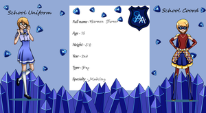 ~Carmen's new application card for SAA~ by CursedRayne