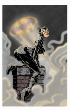 Catwoman color by KenHunt