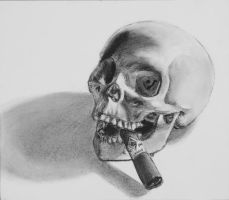 I hate this skull ps by DarkestAce1313
